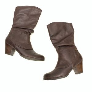 Baretraps Areli Brown Slouchy Cover Heeled Boots